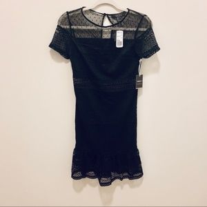 NWT Forever 21 Black Dress with Sheer Detail